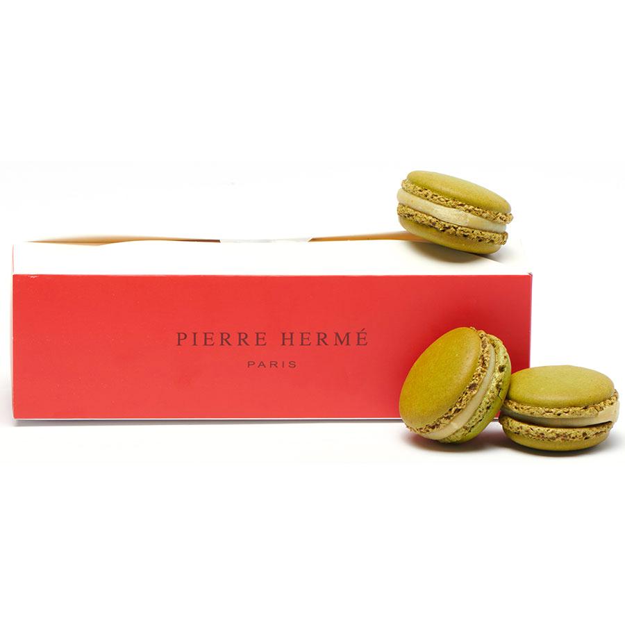 Pierre Hermé Boîte de 7 macarons Infiniment pistache -