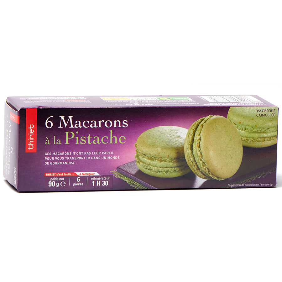 Thiriet 6 macarons pistache -