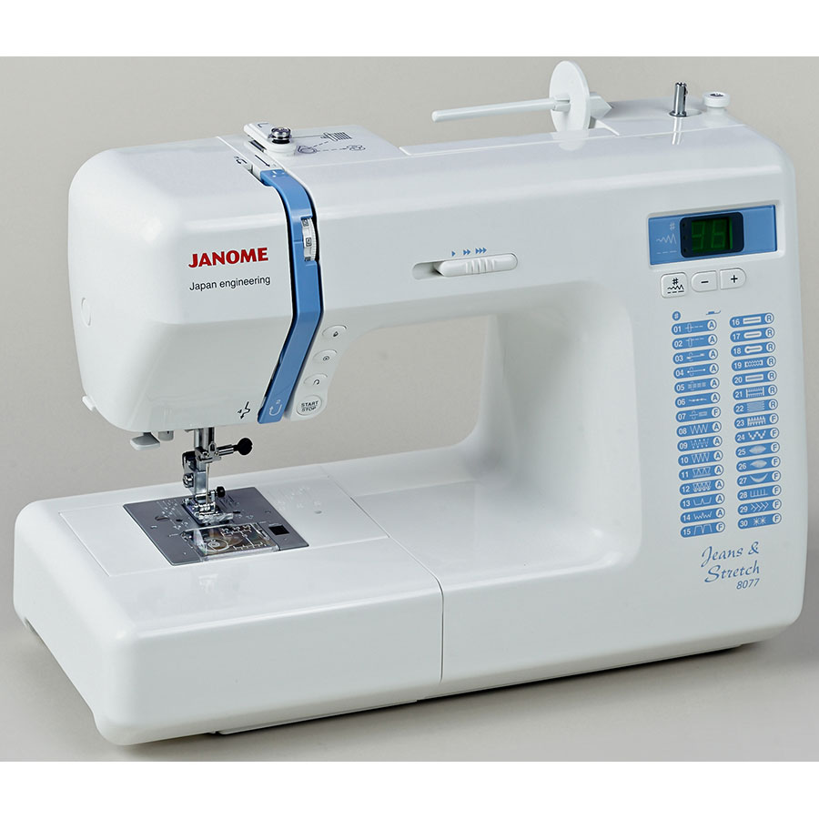 test janome jean stretch 8077 machines coudre ufc