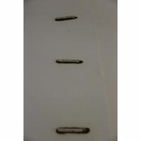Ikea Myrbacka - Test d'inflammabilité : trois cigarettes sont allumées et placées sur le matelas