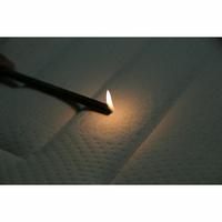 Rêverie Premium ressorts ensachés grand confort luxe - Test d'inflammabilité effectué avec une allumette
