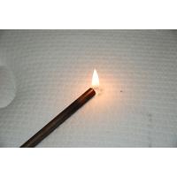 Simmons Éclat - Test d'inflammabilité effectué avec une allumette
