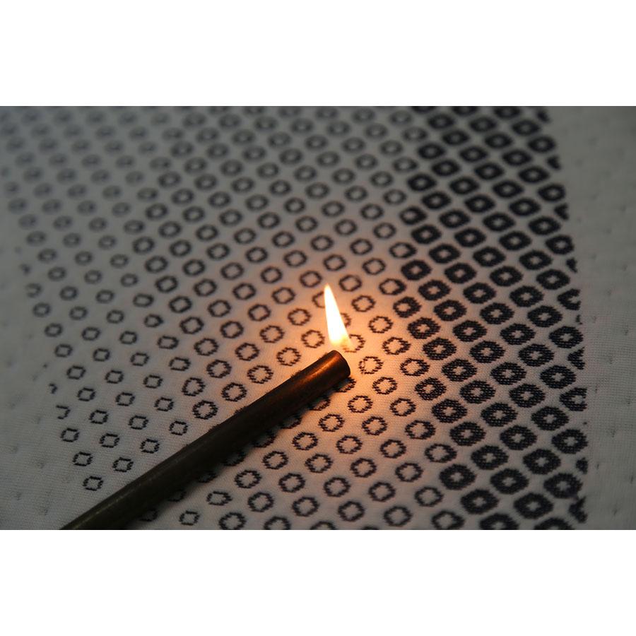 Bultex Pureness(*20*) - Test d'inflammabilité effectué avec une allumette