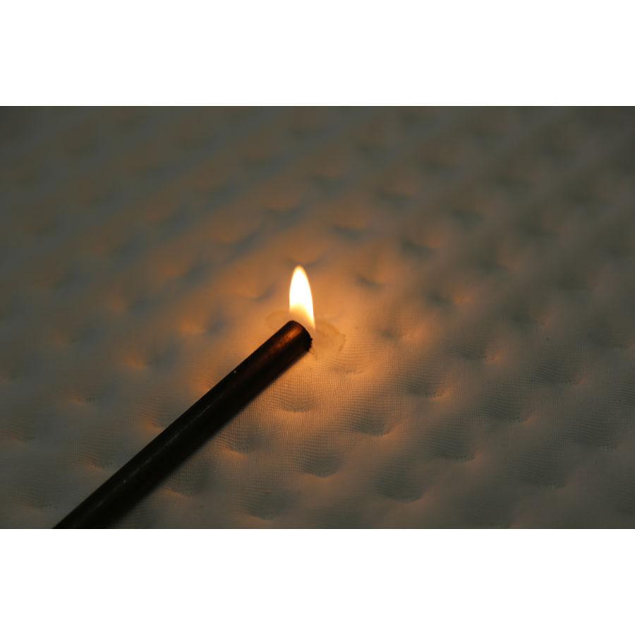 Litrimarché Vipur 235 - Test d'inflammabilité effectué avec une allumette