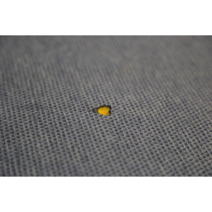 Tediber Ted - Résultat du test d'inflammabilité avec une allumette