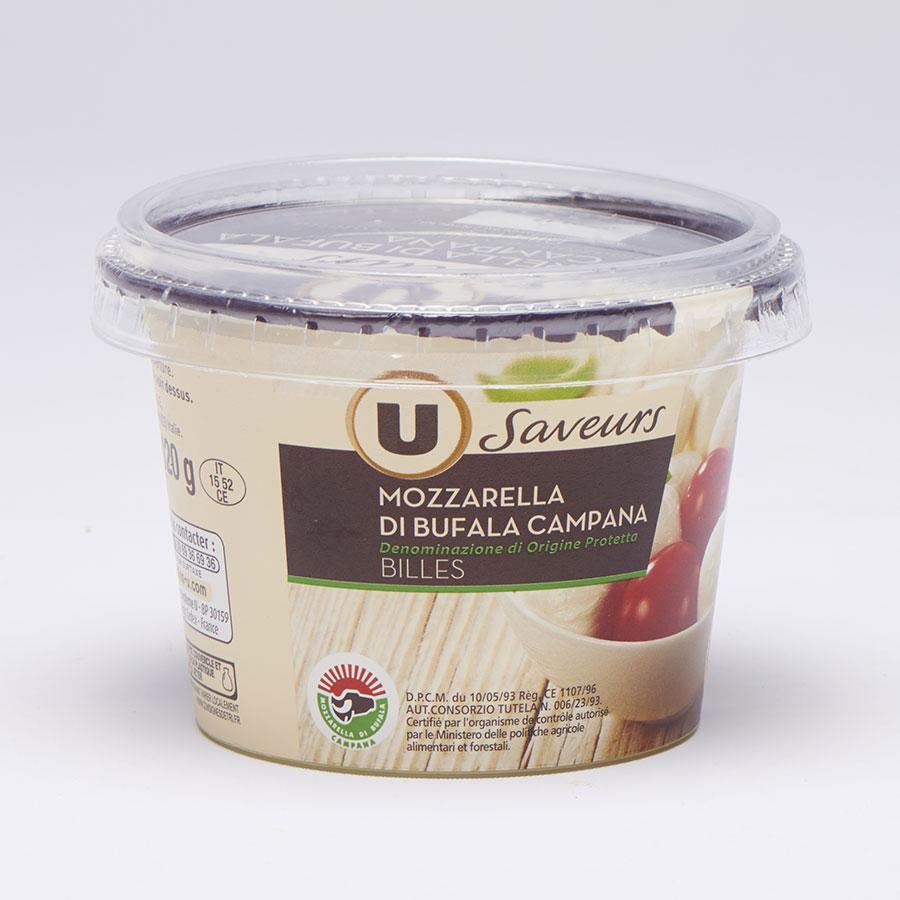U saveurs Mozzarella di Bufala Campana - Billes -