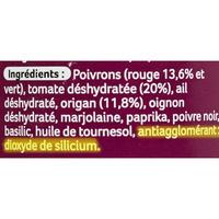 Ducros Mélange Malin Italien (épices) - Cible de l'analyse surlignée dans la liste des ingrédients
