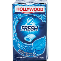 Hollywood Chewing-gum 2Fresh menthe fraîche/menthe forte - Vue principale