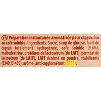 Maxwell House Cappuccino (préparation instantanée) - Cible de l'analyse surlignée dans la liste des ingrédients