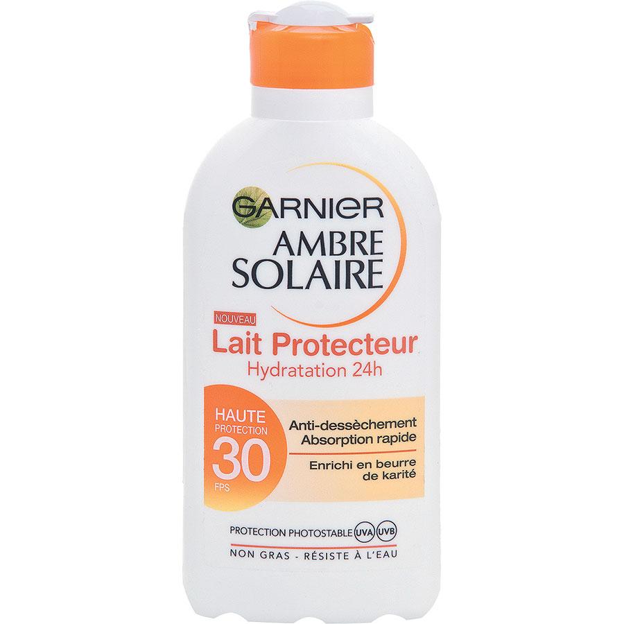 test ambre solaire lait protecteur hydratation 24h spf 30 nanoparticules dans l 39 alimentation. Black Bedroom Furniture Sets. Home Design Ideas