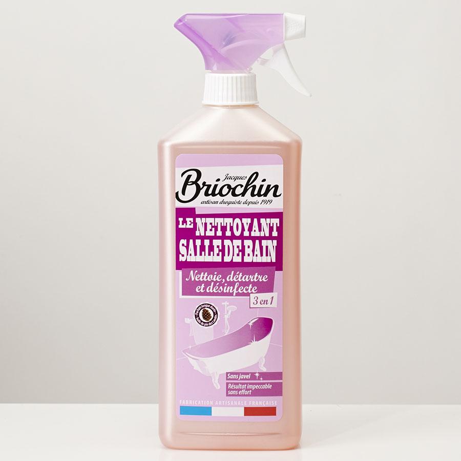 Briochin Nettoyant salle de bain, 3-en-1, nettoie, détartre et désinfecte -