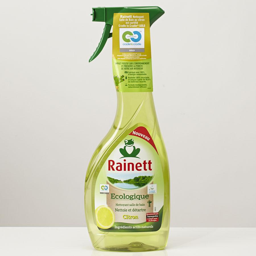 Rainett Écologique nettoyant salle de bains, nettoie et détartre, citron -