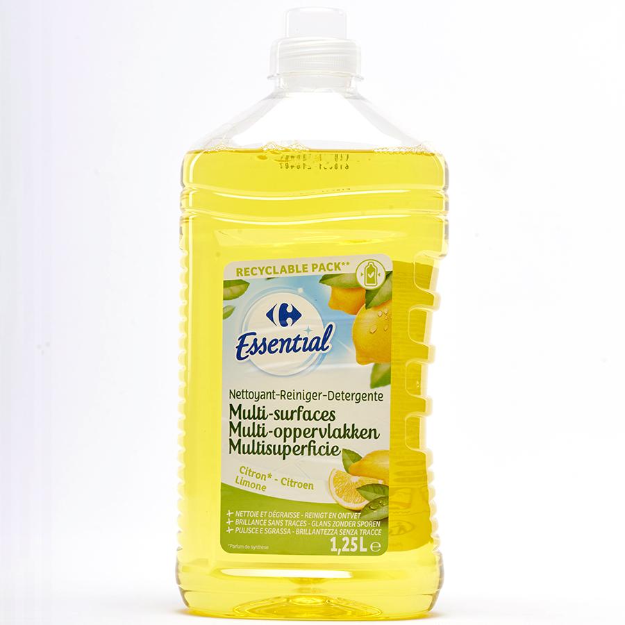 Carrefour Essential nettoyant multi-surfaces citron -