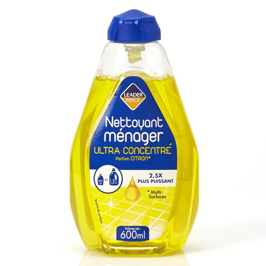 Leader Price Nettoyant ménager ultra-concentré citron -
