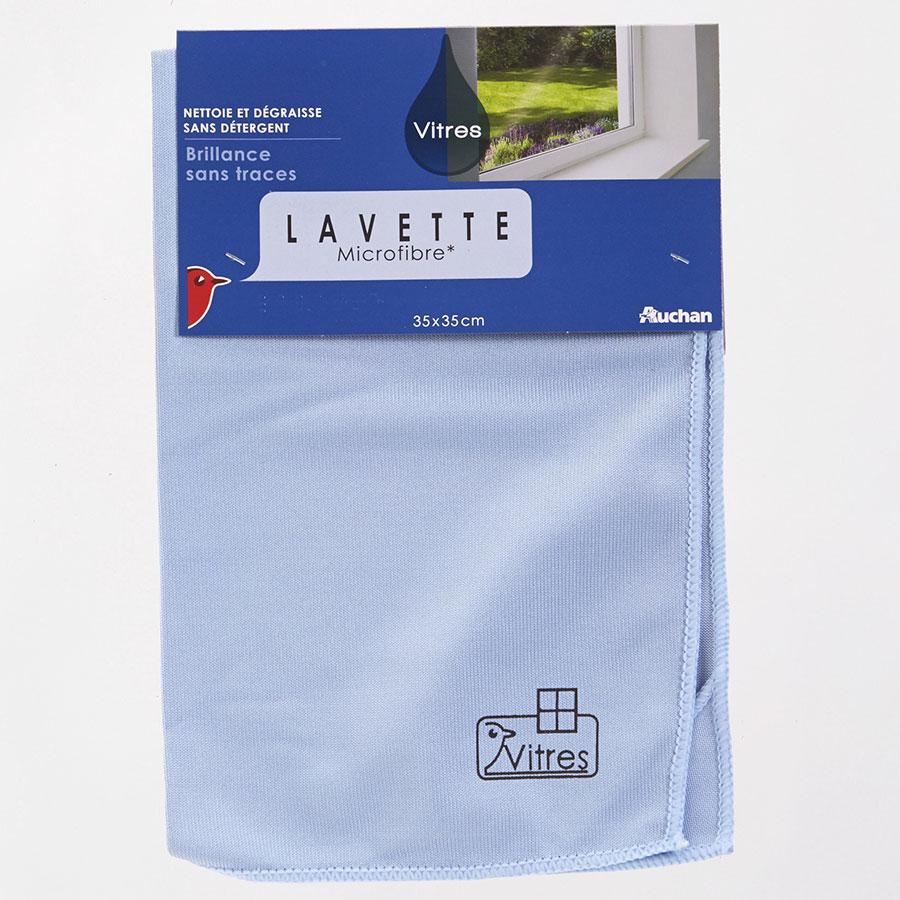 Auchan Lavette microfibre vitres -