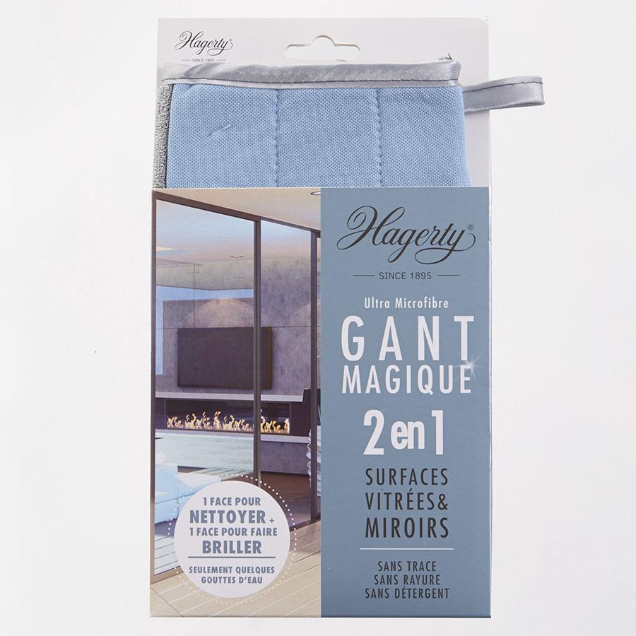 Hagerty Gant magique 2 en 1 surfaces vitrées & miroirs -