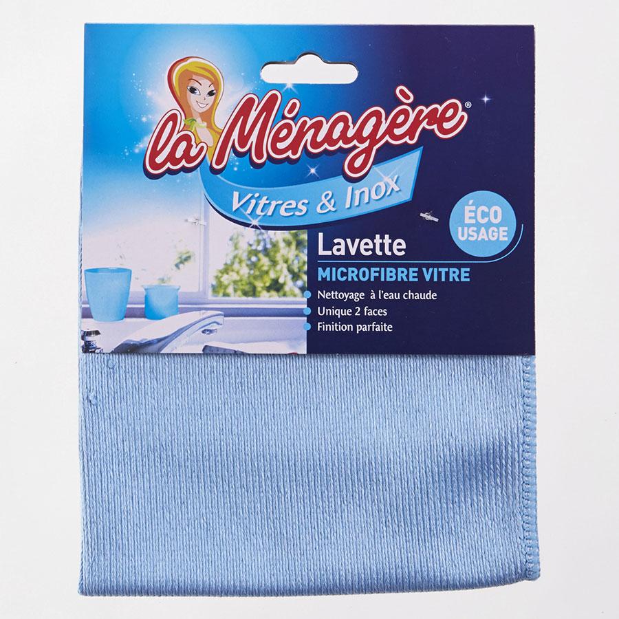 La ménagère Lavette microfibre vitres & Inox -