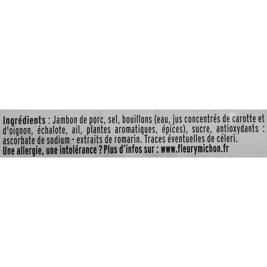 Fleury Michon Le Jambon Zéro Nitrite - Liste des ingrédients