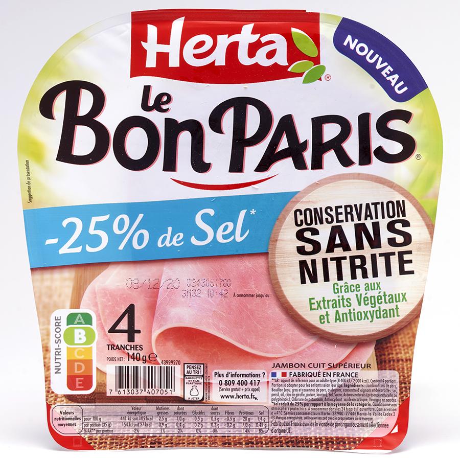 Herta Le Bon Paris - 25% de sel - conservation sans nitrite -