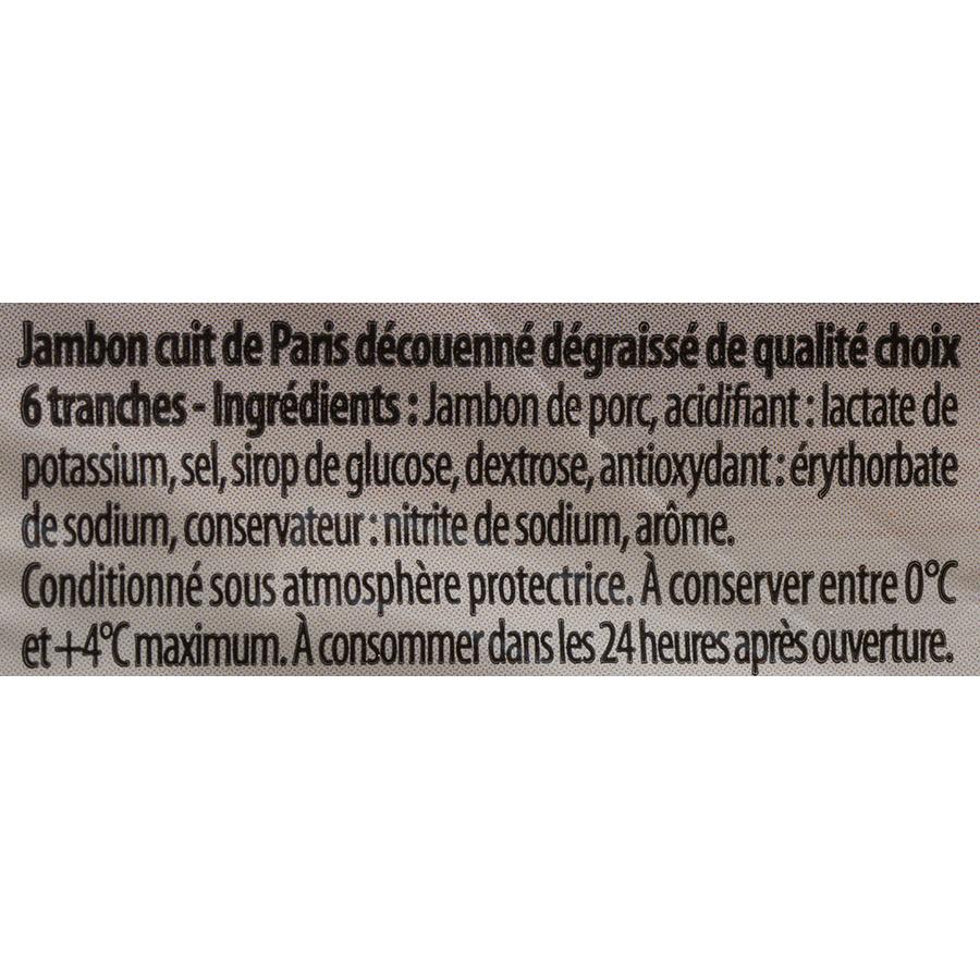 Le marsigny (Aldi) Le Paris sans couenne - Liste des ingrédients