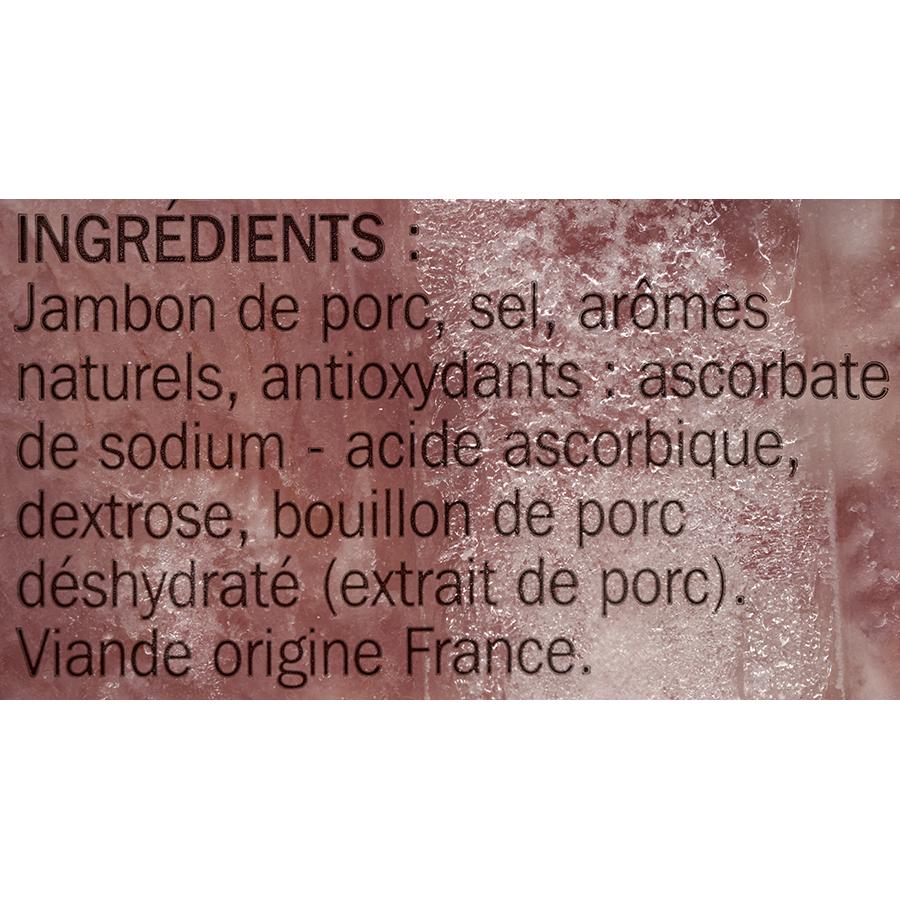 Tradilège (marque repère) Jambon supérieur cuit à l'étoffée conservation sans nitrite - Liste des ingrédients