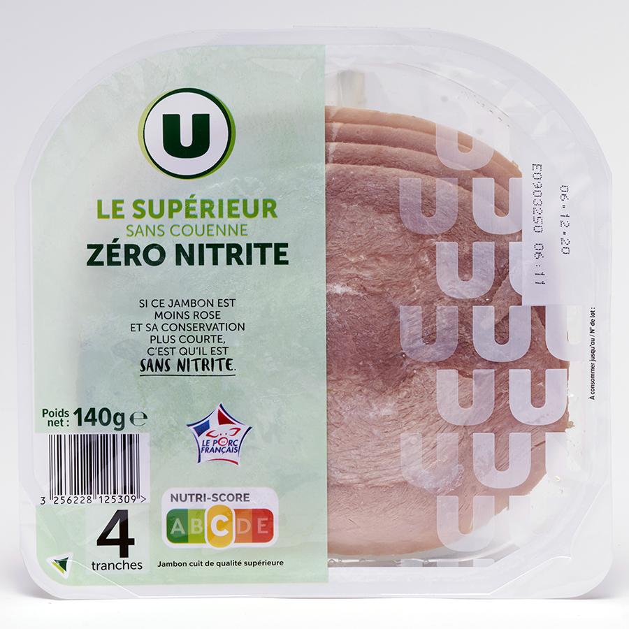 U  Le supérieur sans couenne zéro nitrite -