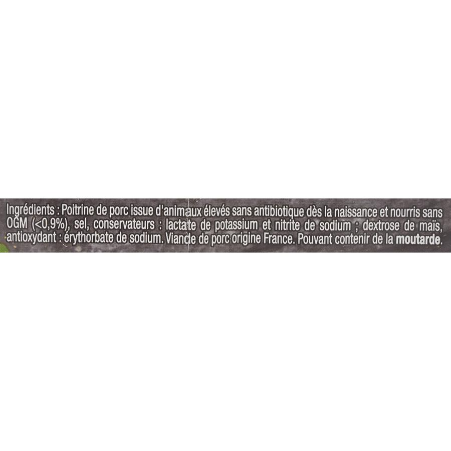 Brocéliande Les lardons bien élevés  - Liste des ingrédients