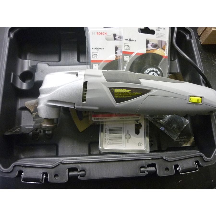 Auchan DB 5803 - L'appareil est testé avec les lames livrées et des lames Bosch