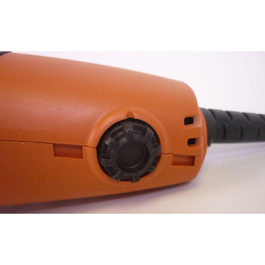 Fein MultiTalent 250 QSL QuickStart - Le variateur est assez peu ergonomique