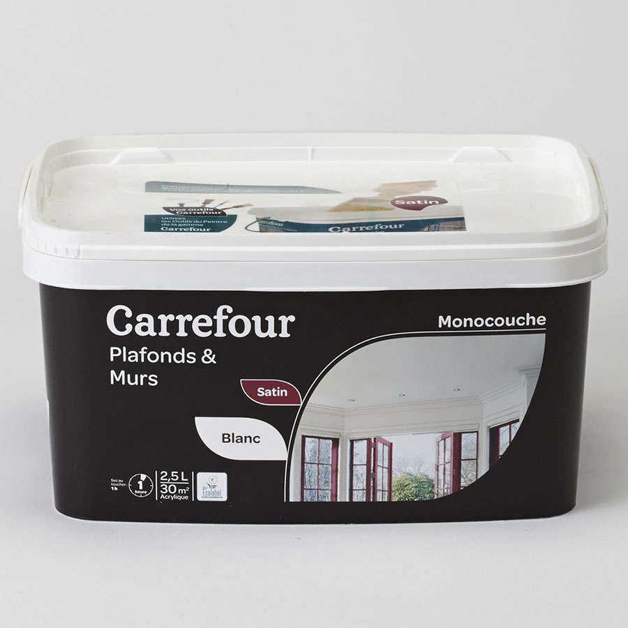 test carrefour plafonds murs monocouche peintures d. Black Bedroom Furniture Sets. Home Design Ideas