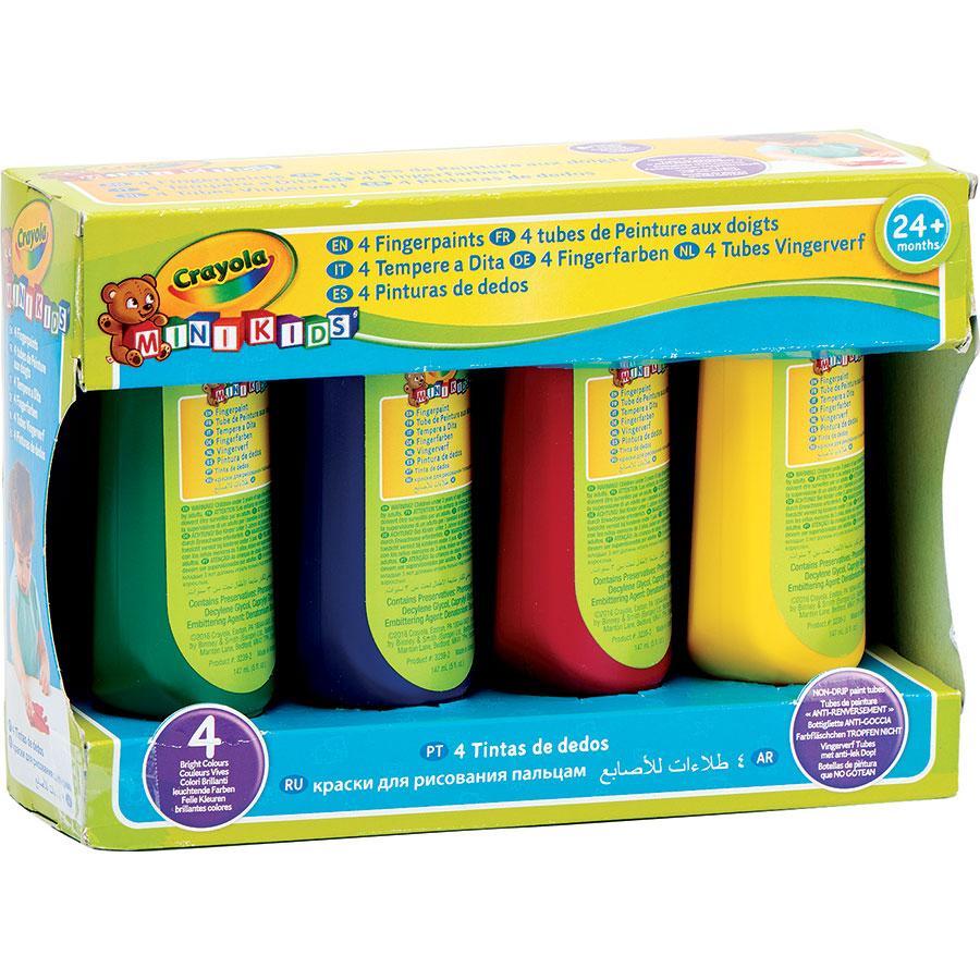 Crayola Mini kids 4 tubes de peinture aux doigts -