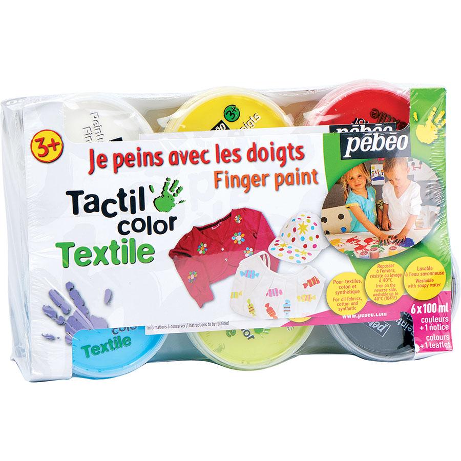 Pebeo Tactil color Textile, 6 pots -