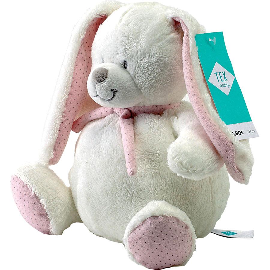 Baby doudou lapin Tex (Carrefour)  -