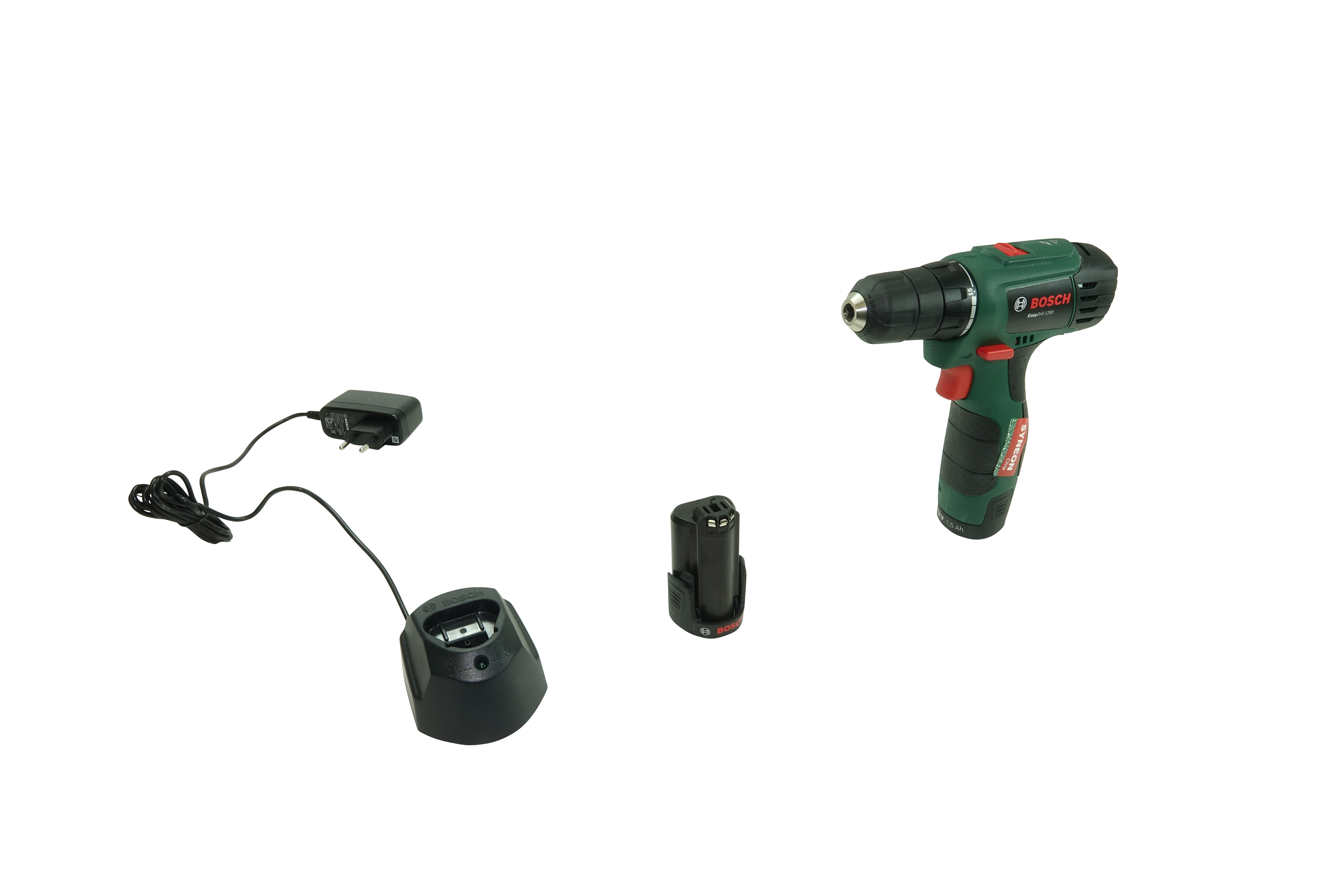 Bosch EasyDrill 1200 - Vue ave le chargeur