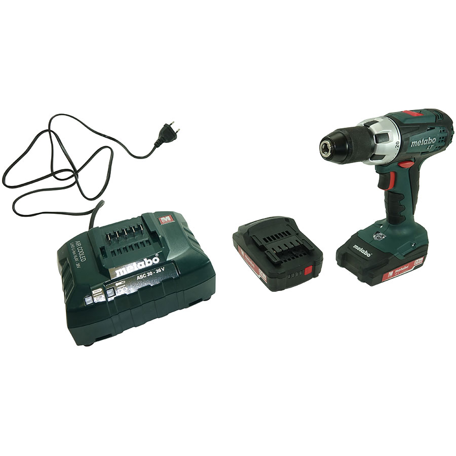 Metabo BS 18 LT Compact - Vue ave le chargeur