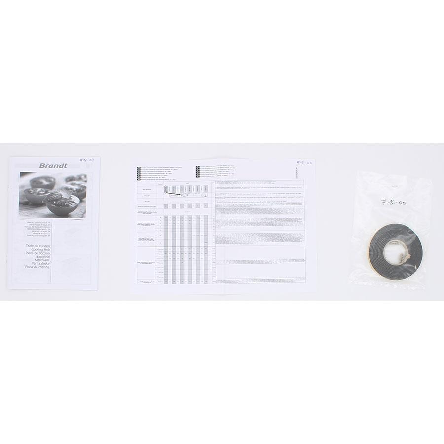 Brandt BPI6320X - Accessoires et documents livrés avec le produit