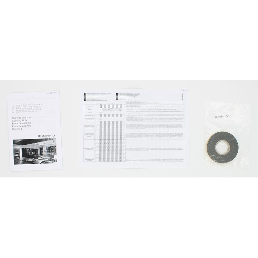 De Dietrich DTI1047GC(*7*) - Accessoires et documents livrés avec le produit