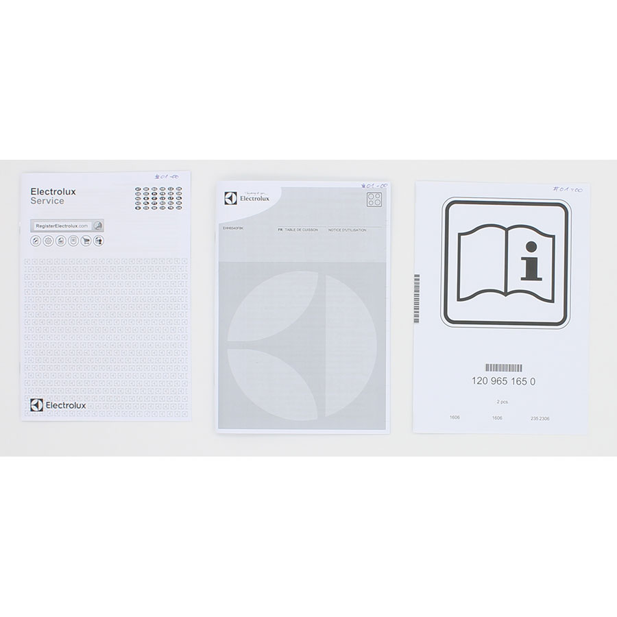 Electrolux EHH6540F8K - Accessoires et documents livrés avec le produit