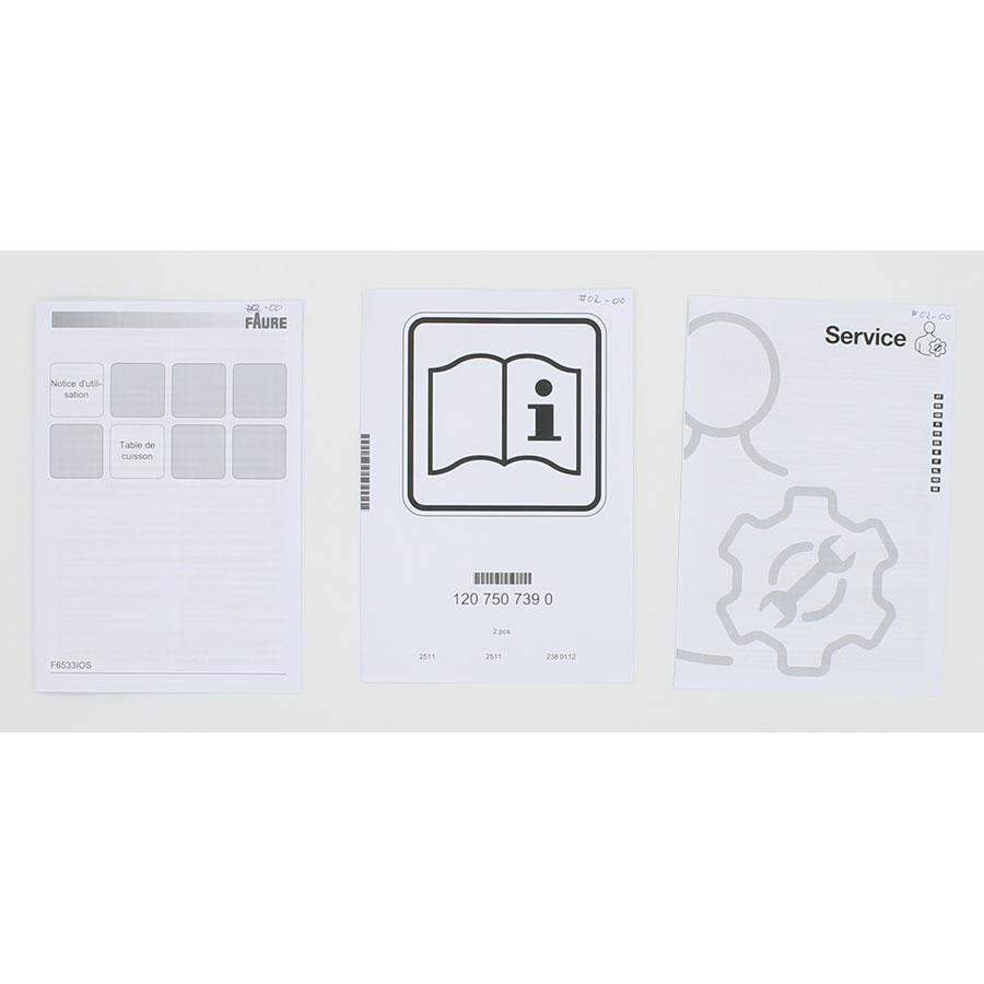 Faure F6533IOS(*15*) - Accessoires et documents livrés avec le produit