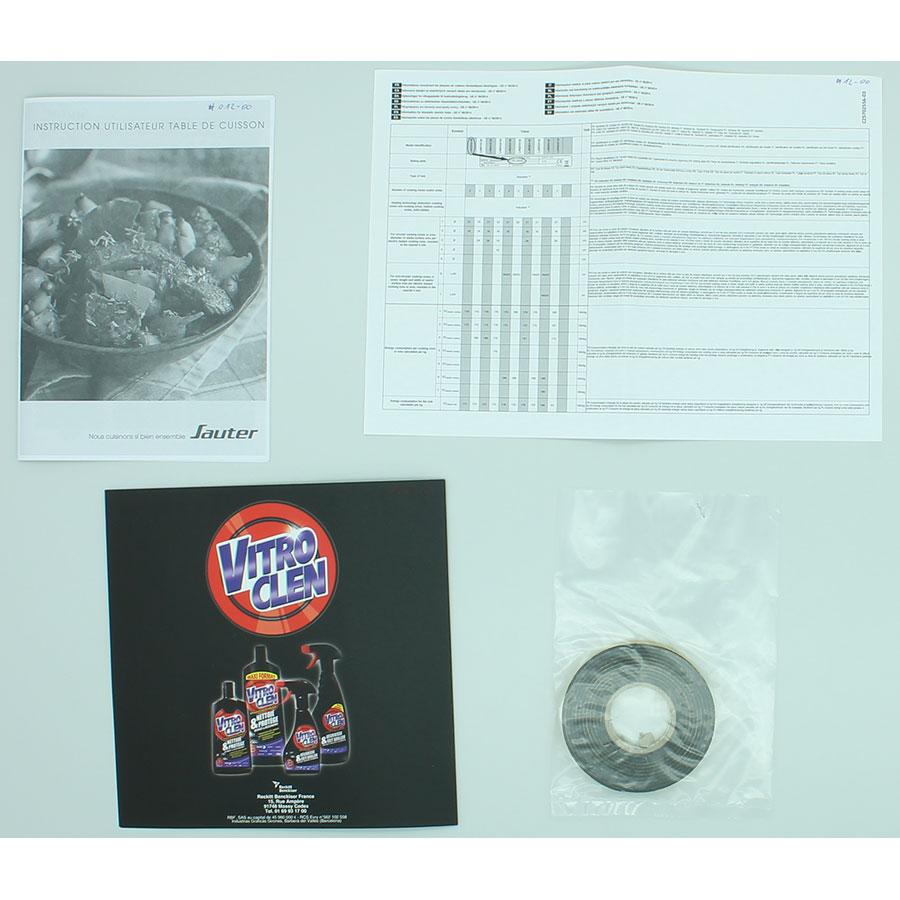 Sauter SPI4664B - Accessoires et documents livrés avec le produit
