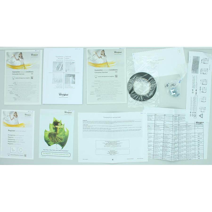 Whirlpool ACM818/NE - Accessoires et documents livrés avec le produit
