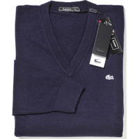 Lacoste Pull col V (100 % cachemire)