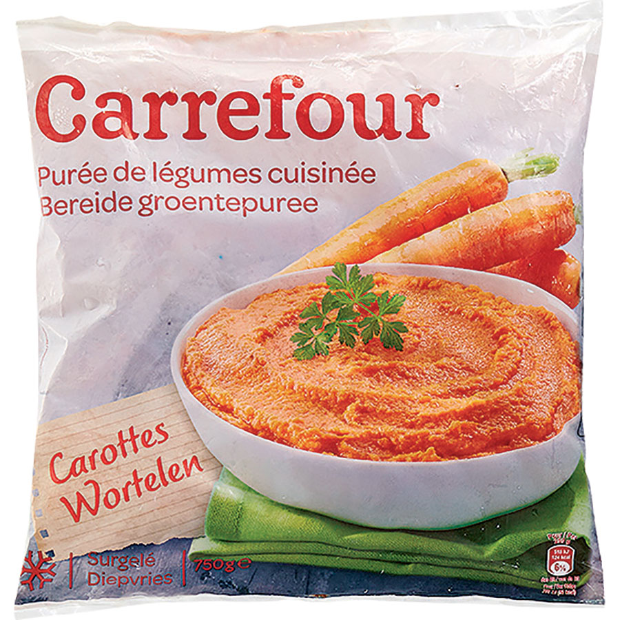 Carrefour Purée de légumes cuisinée – Carottes -