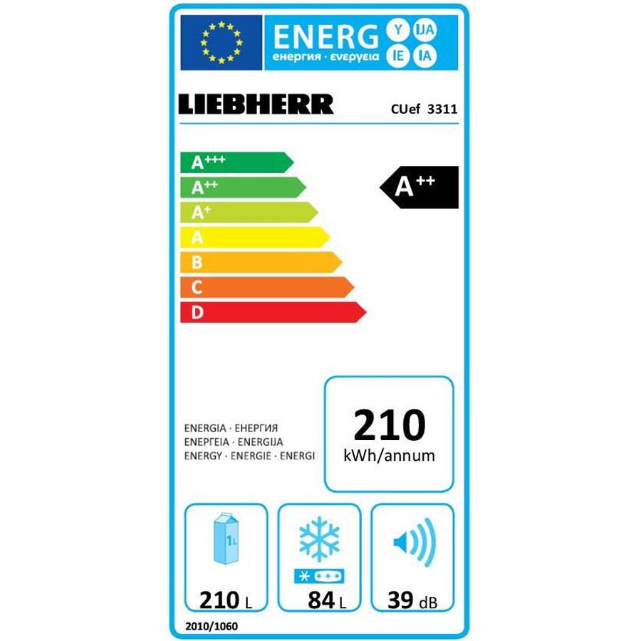 Liebherr Cuef 3311 - Étiquette énergie