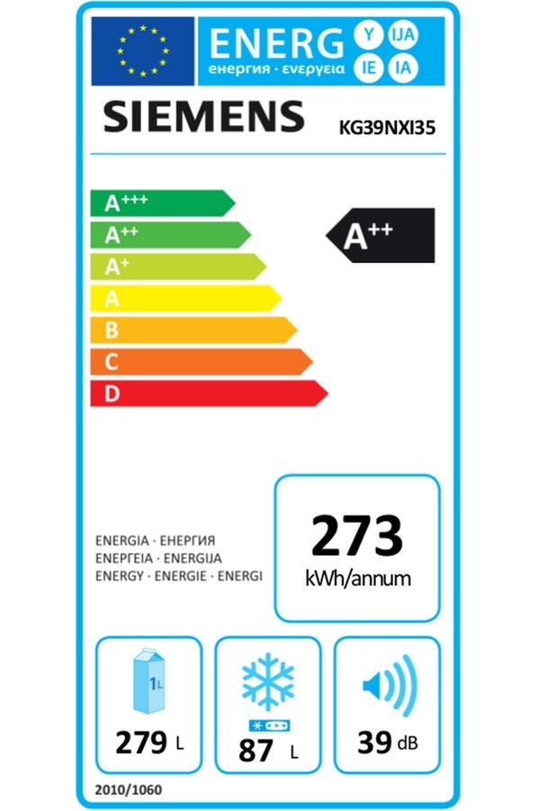 Siemens KG39NXI35 - Étiquette énergie