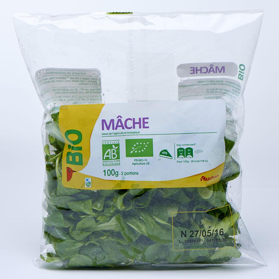 Auchan Mâche bio -