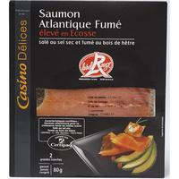 Casino Délices Saumon Atlantique fumé Écosse, Label Rouge