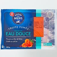 Ronde des Mers (Marque Repère E.Leclerc) Truite fumée élevée en eau douce