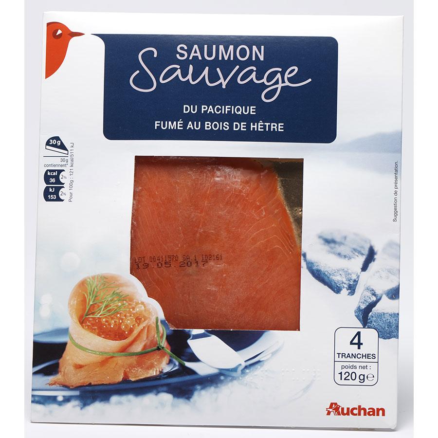 Auchan Saumon sauvage du Pacifique -