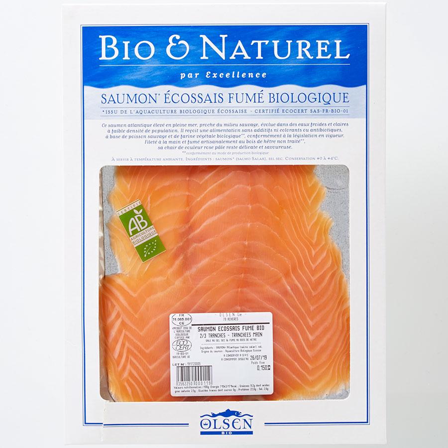 Bio & naturel (Olsen bio) Saumon écossais fumé biologique -